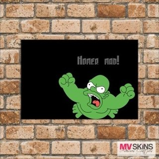 Placa Decorativa Homer Mad ! na internet