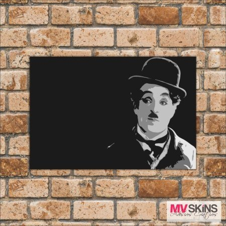 Placa Decorativa Charlie Chaplin 01 na internet