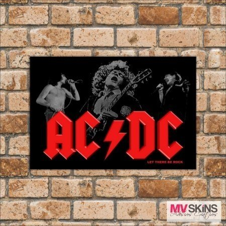 Placa Decorativa Let There Be Rock - ACDC na internet