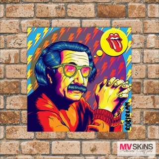 Placa Decorativa Albert Einstein Pop-Art na internet
