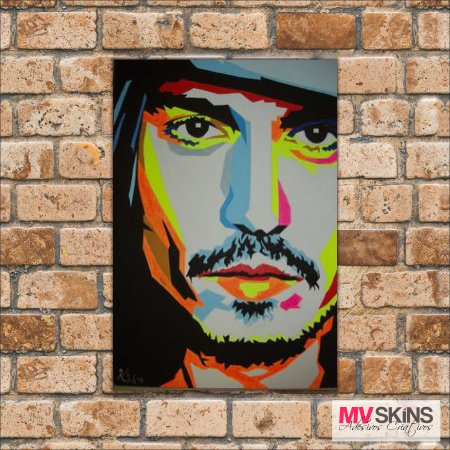 Placa Decorativa Johny Deep Pop-Art 02 na internet