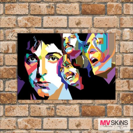 Placa Decorativa The Beatles Pop-Art