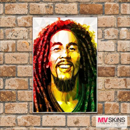 Placa Decorativa Bob Marley Pop-Art - comprar online