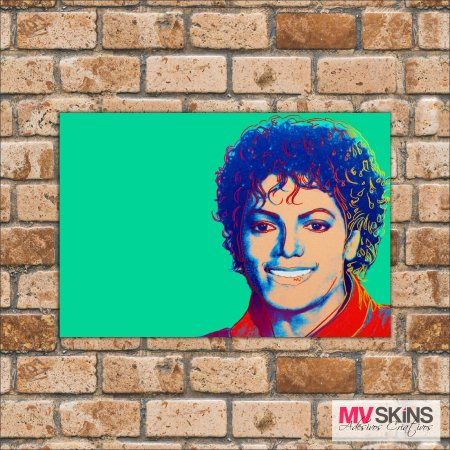 Placa Decorativa Michael Jackson Pop-Art - comprar online