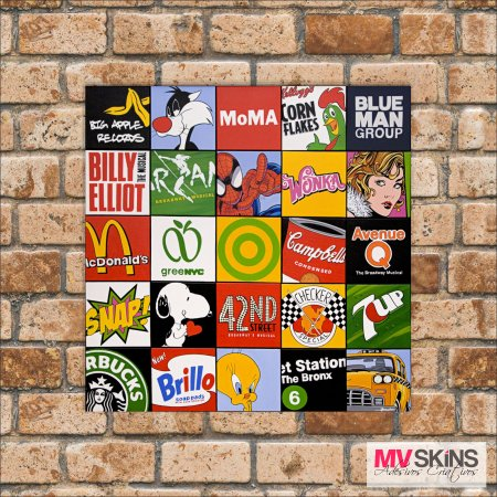 Placa Decorativa Pop-Art 17 na internet