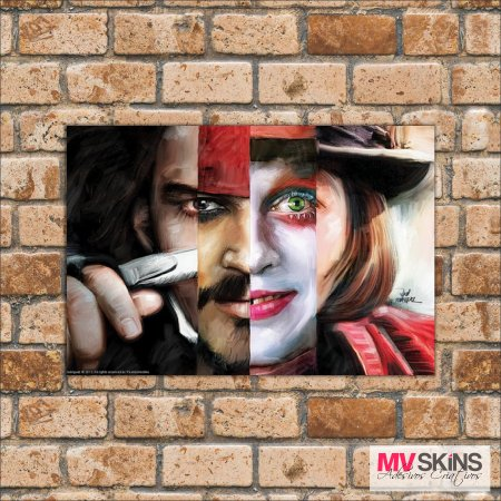 Placa Decorativa Personagens Johny Depp - comprar online