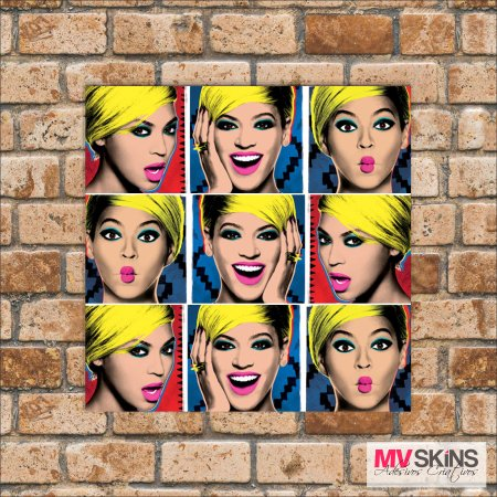 Placa Decorativa Beyoncé Pop-Art na internet