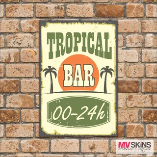 Placa Decorativa Tropical Bar na internet