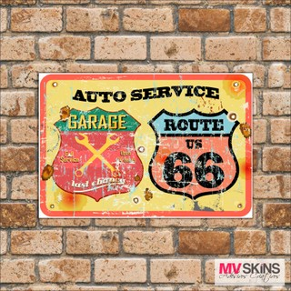 Placa Decorativa Auto Service Route Us 66 na internet