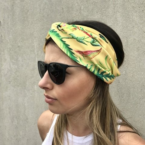 Turbante Golden Tropic - Vittoria Accesorios