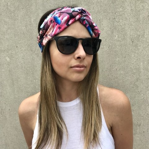 Turbante Pink Jungle - Vittoria Accesorios