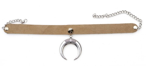 Choker Leather Moon