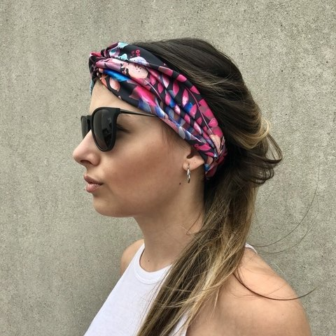 Turbante Pink Jungle - tienda online