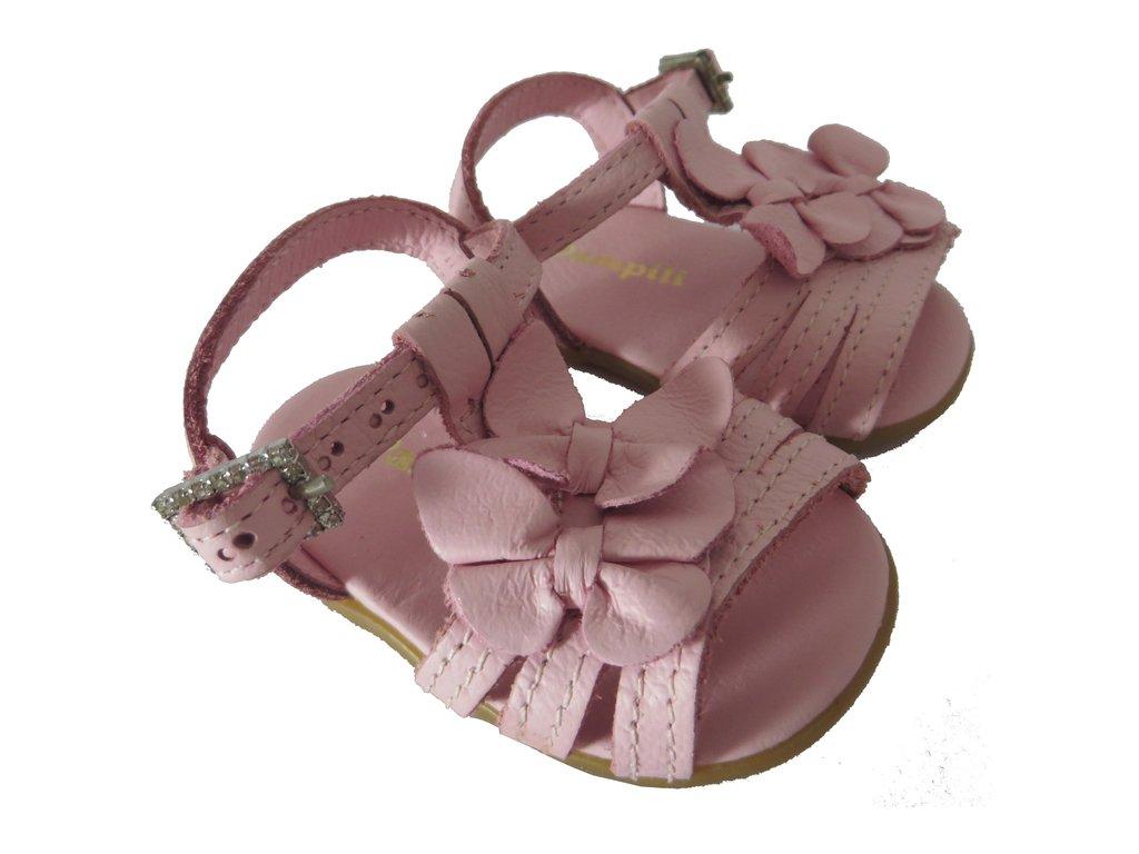 693654cb6 ... 10680 - Infantil Feminino Sandália rosa bebê em couro Pampili - comprar  online ...