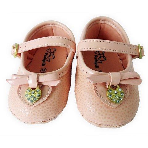 2603c98fb 10687 - Infantil Feminino Sapatilha Boneca bebê rosa Pampili