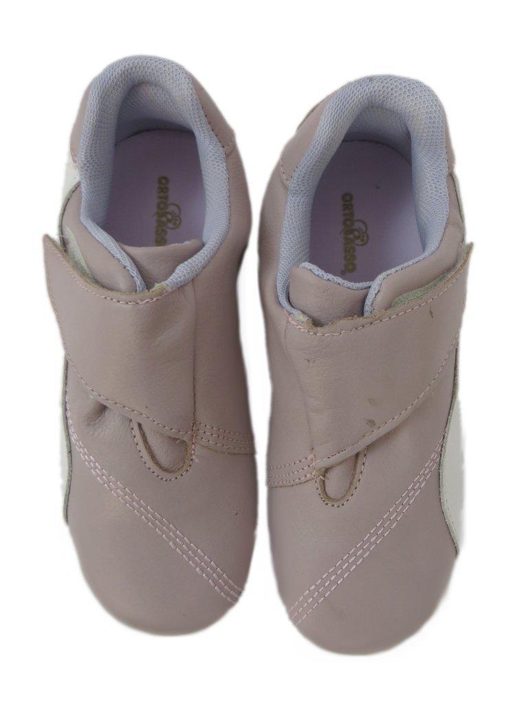 c592293527 10107 - Infantil Feminino Tênis casual velcro rosa com branco Ortopasso. »