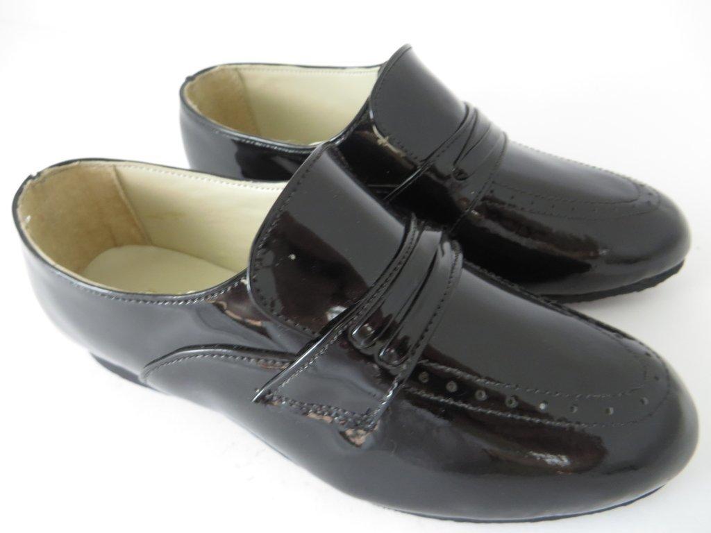 cbbc28e28 ... 10508 - Infantil Masculino Jovem Sapato social preto verniz Triplex em  couro - comprar online ...