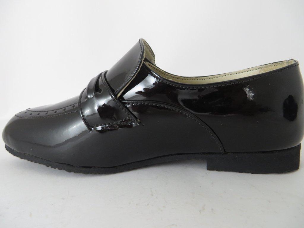 6e852612b ... 10508 - Infantil Masculino Jovem Sapato social preto verniz Triplex em  couro - Girassol Calçados ...