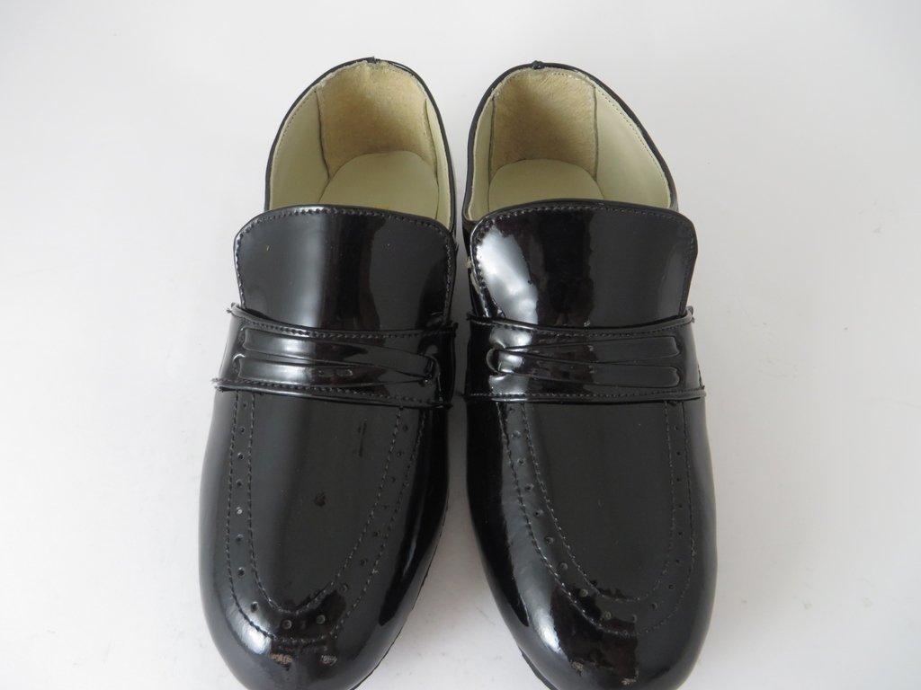 a0e8d5400 10508 - Infantil Masculino Jovem Sapato social preto verniz Triplex em couro.  »