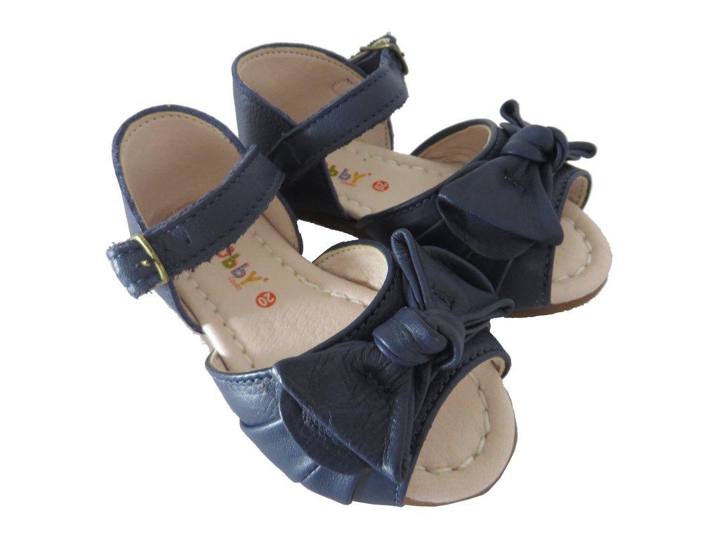 6ed23ef17e ... 11510 -Infantil Feminino Sandália azul marinho em couro laço Hobby -  comprar online ...