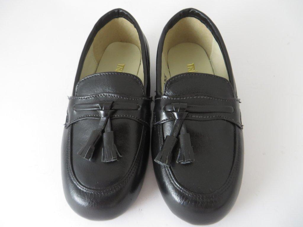 273fc9721 11635 - Infantil Masculino Jovem Sapato social preto franja Triplex em  couro. »