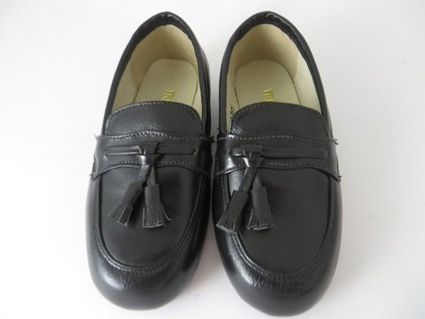054fe25a9 11635 - Infantil Masculino Jovem Sapato social preto franja Triplex em couro