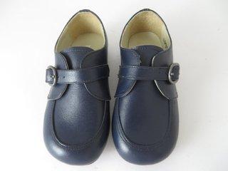 955b36552 11633 - Infantil MASCULINO Jovem Sapato azul marinho com fivela Triplex em  couro