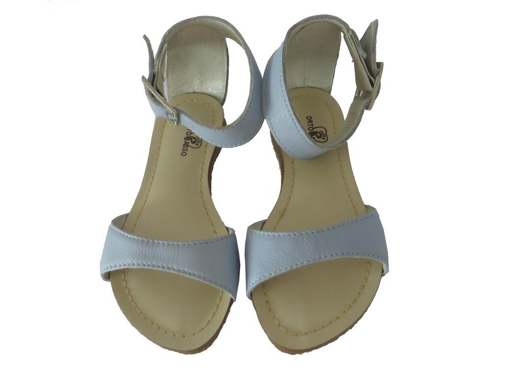 67802de033 10544 - Infantil Feminino Sandália básica couro azul bebê Ortopasso. »
