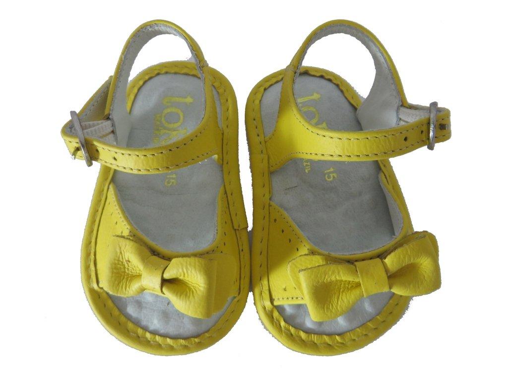 9a7db8bf8 10803 - Infantil Feminino Sandália em couro bebê amarela Toke. »