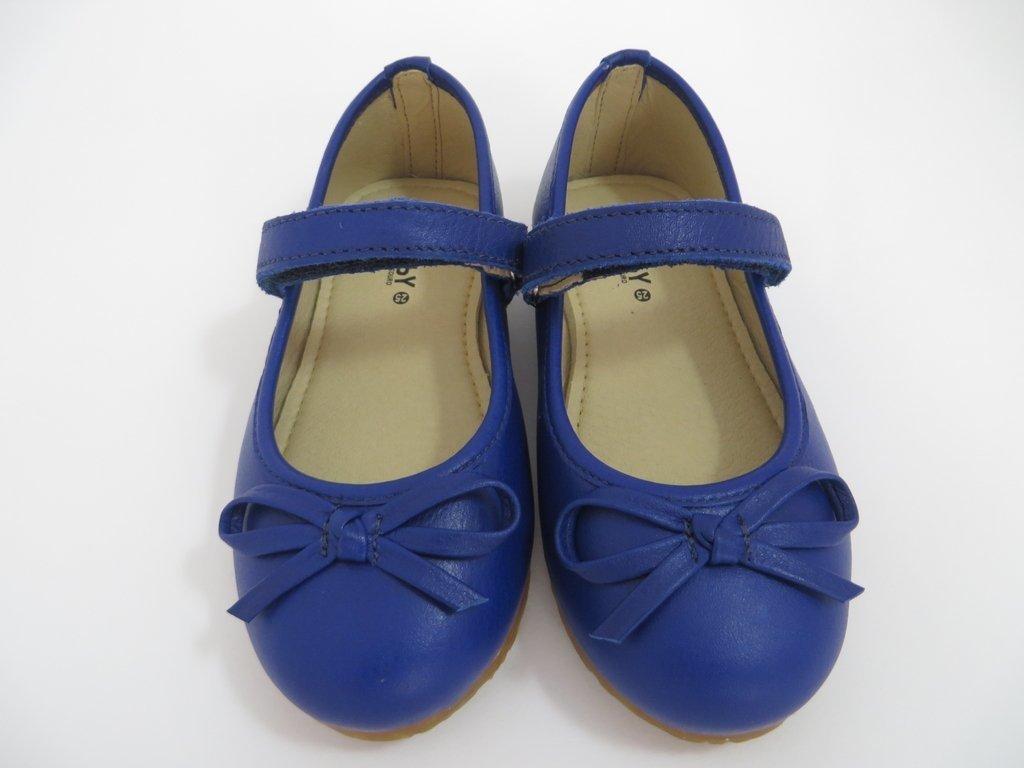 bf9d3017ad 11816 - Infantil Menina Sapato Boneca em couro azul bic laço fino Hobby. »