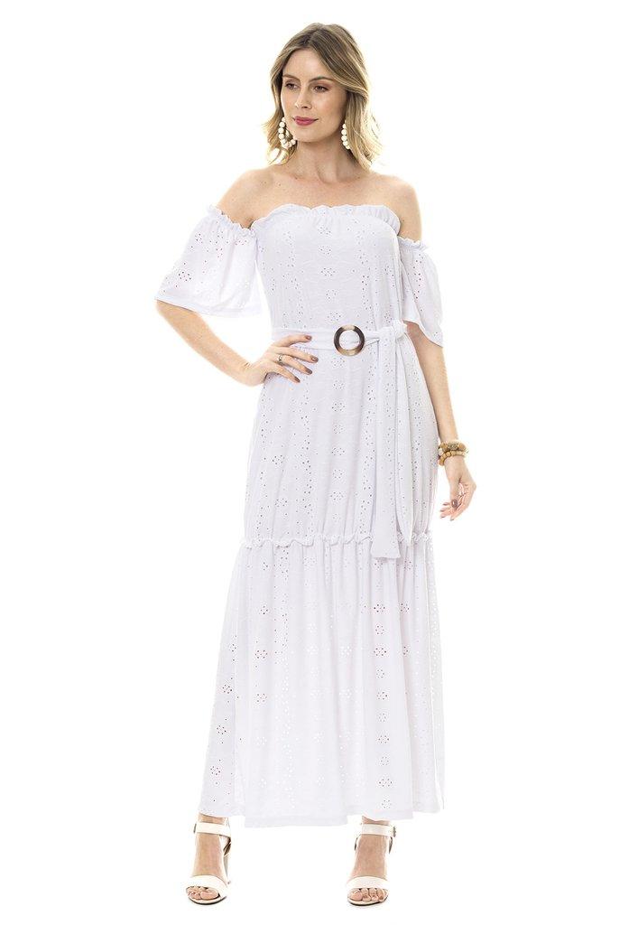Vestido Bisô Ciganinha Laise Branco