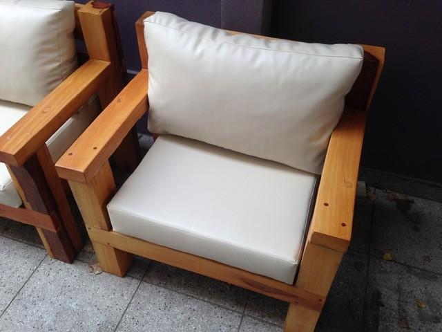 sillones de cuerpo para interior o exterior madera maciza