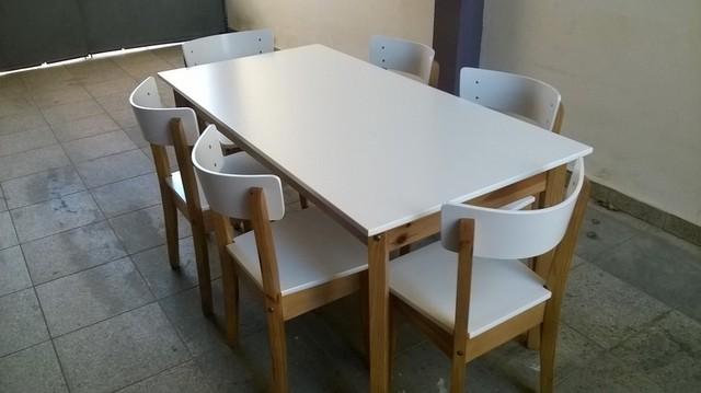 Tienda online de madera maciza for Juego mesa y sillas cocina