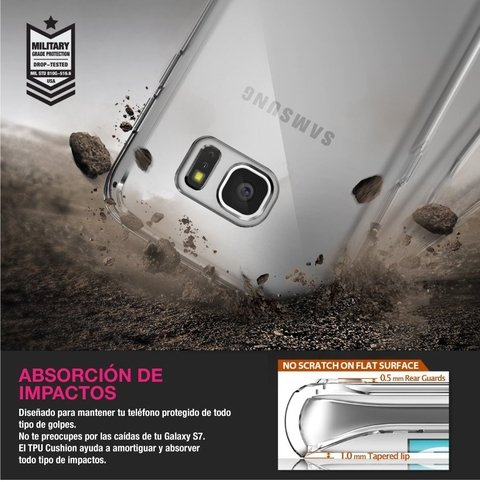 Funda RingKe Fusion Samsung Galaxy S7 EDGE Crystal View - Full Action