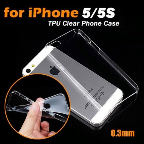 Funda TPU Soft Transparente iPhone 5/5S/5SE