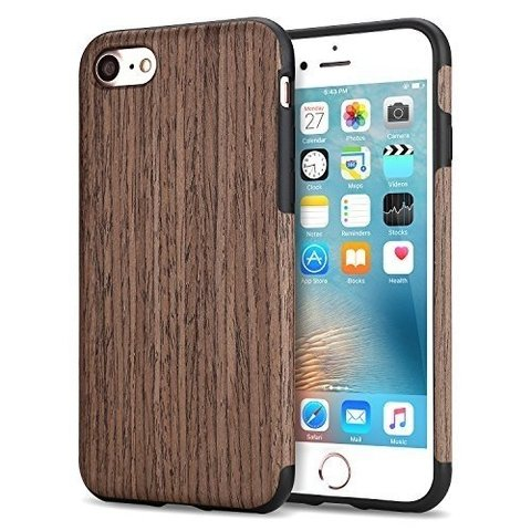 Funda Iphone 6  / 6s / 7 / 7 Plus / 8 / 8 Plus Rigida  Simil Madera New - comprar online