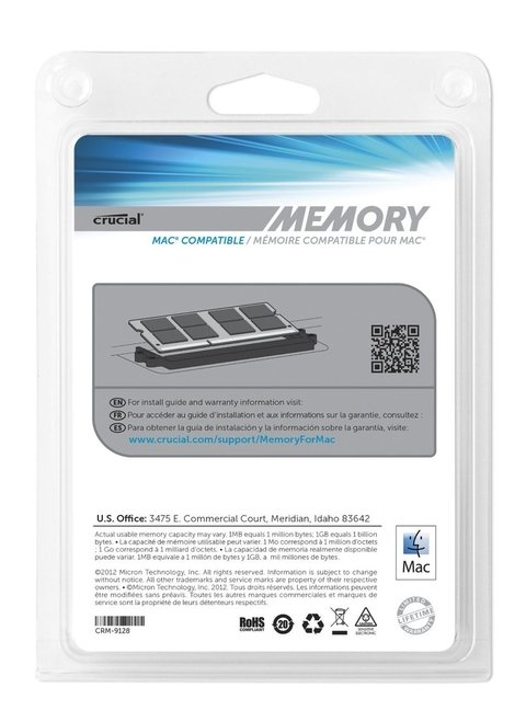 Memorias 8GB Macbook Pro Kit (4GBx2) en internet