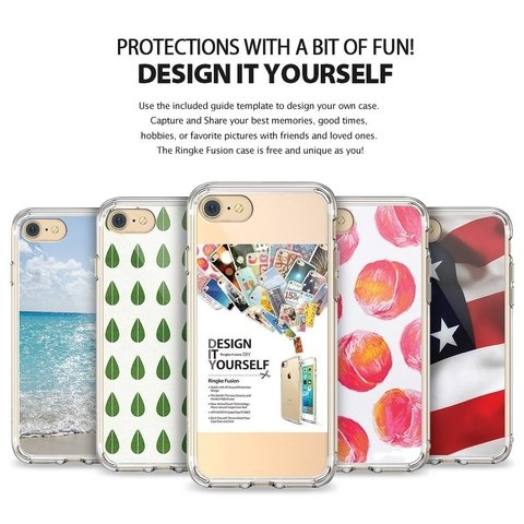 Funda RingKe Fusion iPhone 7 8 Crystal View