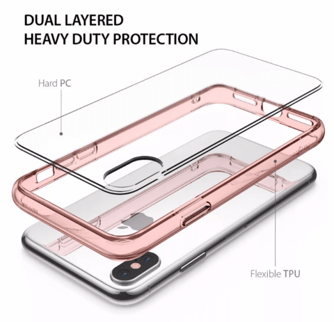 Funda RingKe Fusion iPhone X Crystal View - Full Action