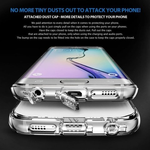 Funda RingKe Fusion Samsung Galaxy S6 PLUS Crystal View en internet