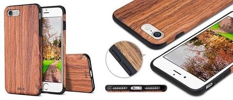 Funda Iphone 6  / 6s / 7 / 7 Plus / 8 / 8 Plus Rigida  Simil Madera New