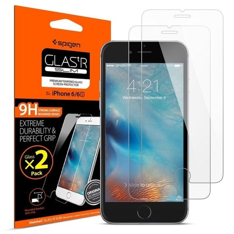 Vidrio iPhone 6 6s Gorilla Glass Spigen ® Original Pack x 2 - comprar online