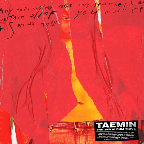TAEMIN - 2nd Album [MOVE] (Random)