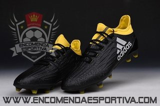 Chuteira Adidas x 16.1 Black / Yellow
