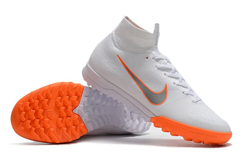 NIke SuperflyX 6 Elite  Society Branca e Laranja