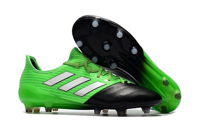 20f5a9c5d4 ... usa adidas ace 17.1 leather fg preta e verde couro e9287 22465