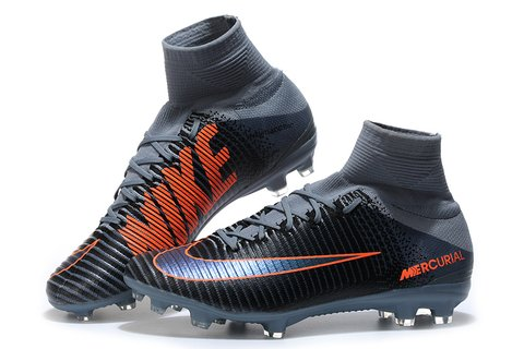 NIke Mercurial Superfly V FG Grey Black