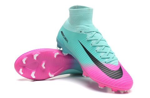 NIke Mercurial Superfly V FG Azul e Rosa New