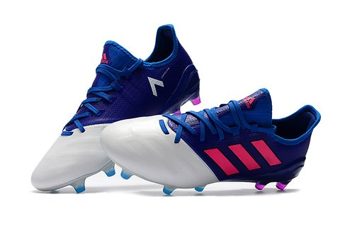 adidas ACE 17.1 Leather FG Branca e Azul Couro na internet
