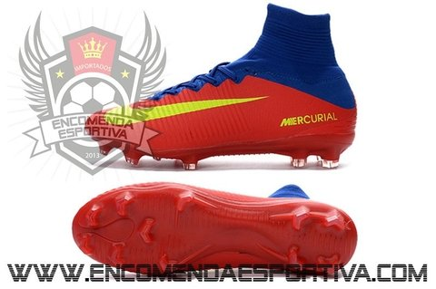 Chuteira Mercurial Superfly V Red / Blue